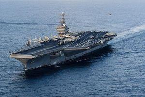 Nhóm tác chiến tàu sân bay Mỹ tập trận rầm rộ trên biển Arab