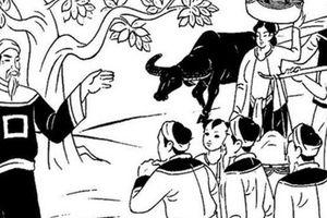 Tiến sĩ cưỡi bò và câu đối khiến quan huyện phải quỳ lạy