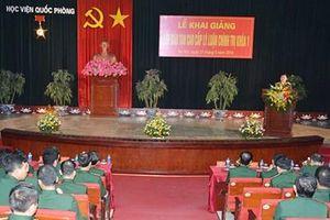 Học viện Quốc phòng khai giảng lớp đào tạo cao cấp lý luận chính trị khóa 1