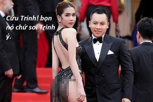 'Khoe thân' ở LHP Cannes, Ngọc Trinh trở thành tâm điểm chế ảnh của CĐM