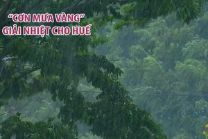 'Cơn mưa vàng' 1 giờ đồng hồ giải nhiệt cho Huế