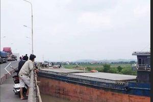 Hải Dương: Cầu An Thái lại bị tàu thủy 'hôn'