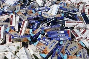 Đồng Tháp: Thu giữ gần 1.500 bao thuốc lá vô chủ