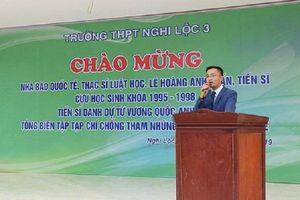 Kiểm điểm Viện trưởng Báo chí có bài đăng trên tạp chí của 'nhà báo quốc tế' Lê Hoàng Anh Tuấn