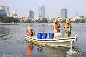 Tiếp tục xử lý ô nhiễm nước hồ ở Hà Nội bằng chế phẩm Redoxy-3C