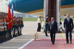 Lễ đón chính thức Thủ tướng Nguyễn Xuân Phúc tại Moscow
