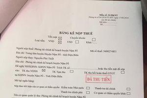 Viết tiếp bài về Trưởng phòng Tài chính-kế hoạch huyện Nậm Pồ, tỉnh Điện Biên