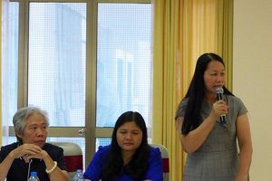 Hội thảo khoa học 'Đánh giá thực trạng, đề xuất giải pháp nâng cao hiệu quả quản lý, sử dụng đội ngũ cán bộ, công chức nữ trong các cơ quan hành chính nhà nước'.