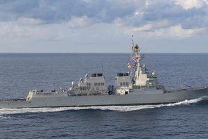 Tàu khu trục Mỹ qua eo biển Đài Loan giữa căng thẳng với Trung Quốc