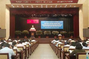 Hội nghị cán bộ thành phố thông báo nhanh kết quả Hội nghị Trung ương 10 (khóa XII)