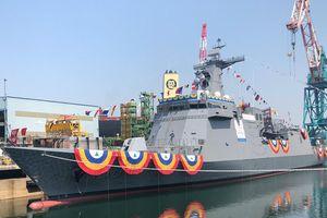 Hàn Quốc hạ thủy chiến hạm mang tên lửa đóng cho Philippines
