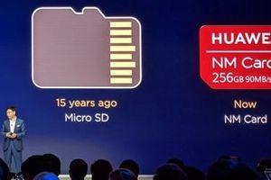 Smartphone của Huawei sẽ không được dùng thẻ nhớ MicroSD
