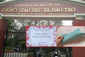 Thưởng học sinh giỏi chỉ bằng tờ giấy: Phòng GD&ĐT Cầu Giấy, Hà Nội nói gì?