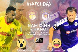 Trực tiếp Nam Định vs Hà Nội FC vòng 11 V-League 2019