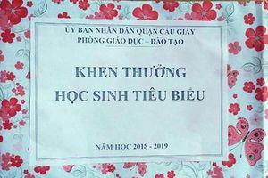 Phòng GD-DT quận Cầu Giấy, Hà Nội giải thích thêm về vụ việc tặng hộp quà rỗng cho học sinh giỏi