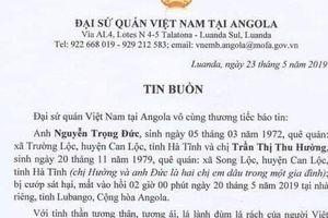 Chị dâu và em chồng người Việt Nam bị sát hại tại nhà riêng ở Angola