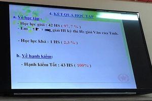 Thẩm định lại các bài kiểm tra các lớp có 42/43 học sinh giỏi