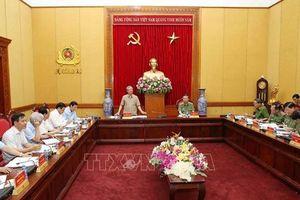 Tiểu ban Văn kiện Đại hội XIII làm việc với Đảng ủy Công an T.Ư