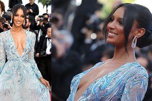 'Thiên thần nội y' Jasmine Tookes sexy với váy xẻ sâu, khoe ngực đầy nóng bỏng