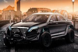 Mercedes S-Class lột xác thành 'chiến binh' với bản độ offroad