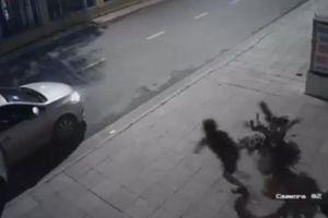 Người phụ nữ trộm chậu cây không may rơi bể rồi bỏ chạy