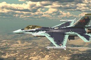 Video chuyến bay của máy bay Mỹ F-16 trong hình dạng chiến đấu cơ Su-57 của Nga
