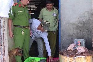Hậu Giang: Phát hiện gần 1,5 tấn thịt lợn bốc mùi hôi thối