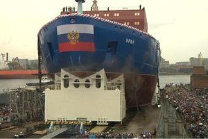 Nga hạ thủy tàu phá băng hạt nhân uy lực bậc nhất thế giới