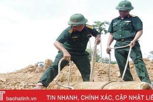 Hủy nổ quả bom nặng gần 250kg trong vườn nhà dân ở Hà Tĩnh