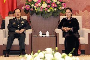 Chủ tịch Quốc hội Nguyễn Thị Kim Ngân tiếp Bộ trưởng Quốc phòng Trung Quốc Ngụy Phượng Hòa