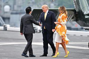 Tổng thống Trump thăm tàu chiến lớn nhất của Nhật