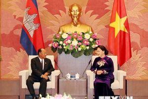 Hình ảnh Chủ tịch Quốc hội Campuchia thăm chính thức Việt Nam