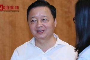 Cấp dưới bị tố nhận 12 tỷ 'chạy' dự án: Bộ trưởng Trần Hồng Hà nói 'nếu vi phạm sẽ chuyển sang công an'