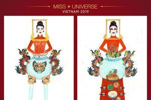 Thiết kế trang phục cho Hoàng Thùy dự Miss Universe gây tranh cãi dữ dội