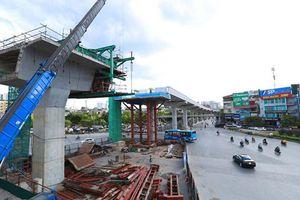 Đường sắt đô thị Nhổn - ga Hà Nội sắp hoàn thành xây lắp đoạn trên cao