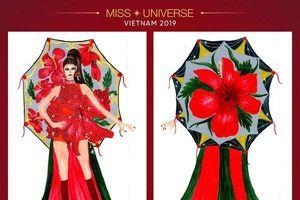 Xuất hiện mẫu thiết kế 'Đỏ thơm' quá hợp với Hoàng Thùy: Chuẩn 'Nữ hoàng hoa dâm bụt'!