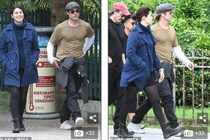 Brad Pitt mặc giản dị khi đi xem triển lãm nghệ thuật cùng bạn thân