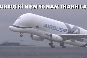 Hoành tráng 'đồng diễn' máy bay Airbus kỉ niệm 50 năm thành lập