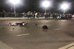 Hai xe máy đối đầu trên cầu Kỳ Cùng, 4 thanh niên thương vong