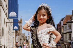 Elsa Thiên Long đăng quang Mini Miss Diamond Việt Nam tại Anh quốc