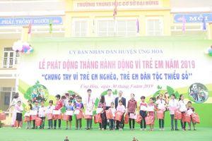 Huyện Ứng Hòa phát động Tháng hành động Vì trẻ em năm 2019