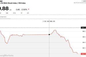 Phe bán thắng thế, VN-Index thủng 960 điểm trong phiên cuối cùng tháng 5