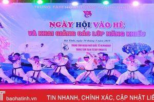 Sôi động ngày hội vào hè tại Hà Tĩnh