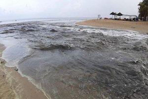 Đà Nẵng: Nước thải đen ngòm ồ ạt đổ ra biển