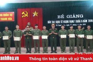 Bộ CHQS tỉnh bế giảng lớp đào tạo sỹ quan dự bị