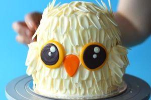 Làm bánh hình cú trắng khiến trẻ nhỏ thích mê