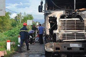 Xe container gây tai nạn liên hoàn rồi bốc cháy, 3 người thương vong