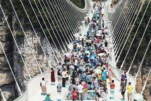Trải nghiệm đi bộ nửa cây số trên cầu kính dài nhất thế giới