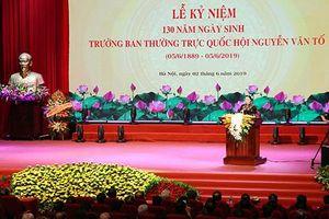 Kỷ niệm 130 năm ngày sinh Trưởng ban Thường trực Quốc hội đầu tiên Nguyễn Văn Tố