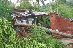 Lốc xoáy cuốn đổ sập hàng chục ngôi nhà ở Quảng Ngãi